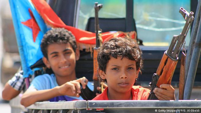 Yemen Kindersoldaten in Aden