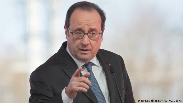 Frankreich Francois Hollande in Villognon