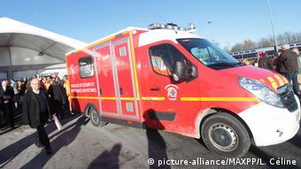Frankreich Krankenwagen in Villognon