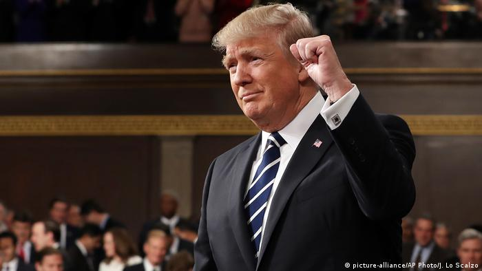 Donald Trump in a joint session of US Congress