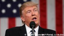 USA Donald Trump vor dem US-Kongress in Washington
