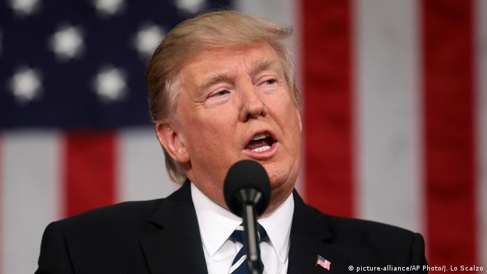 USA Donald Trump vor dem US-Kongress in Washington (picture-alliance/AP Photo/J. Lo Scalzo)