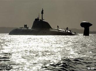 File photo fo a Russian nuclear submarine