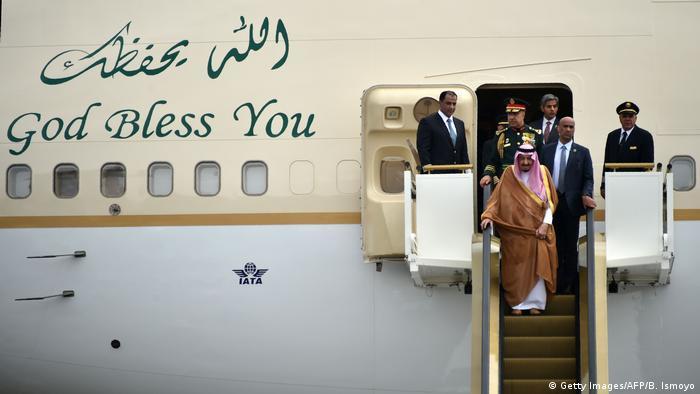 Indonesien Saudi Arabien König Salman bin Abdul Aziz zu Besuch in Jakarta (Getty Images/AFP/B. Ismoyo)