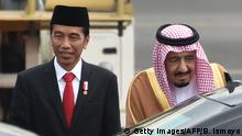 Indonesien Saudi Arabien König Salman bin Abdul Aziz bei Joko Widodo