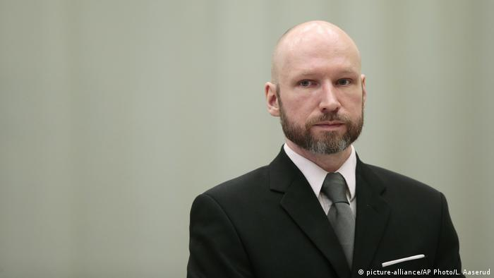 Mass murderer Anders Behring Breivik at court