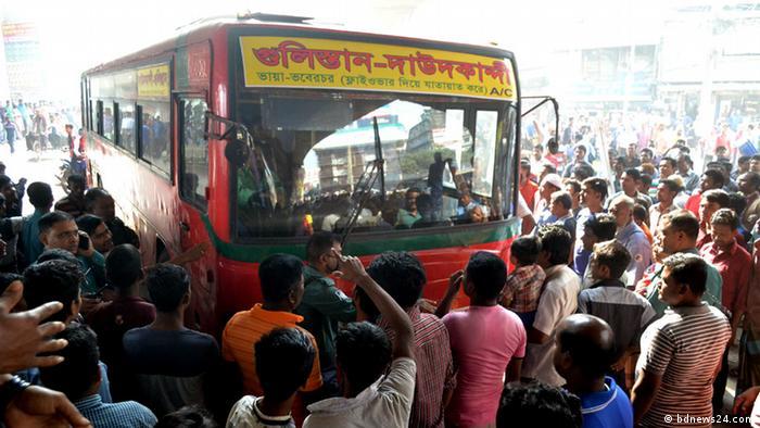 Bangladesch - Landesweiter Streik der Bus- und LKW Fahrer (bdnews24.com)