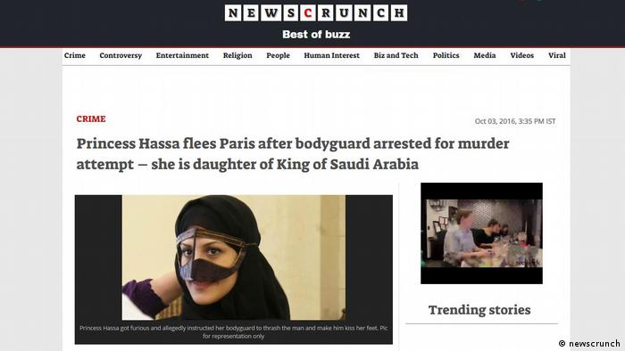Screenshot newscrunch Prinzessin Hassa (newscrunch)