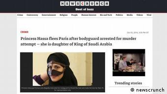 Screenshot newscrunch Prinzessin Hassa