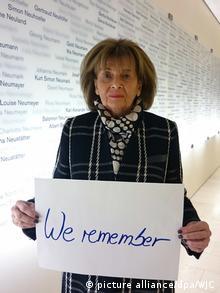 Deutschland Aktion «We Remember» - Charlotte Knobloch