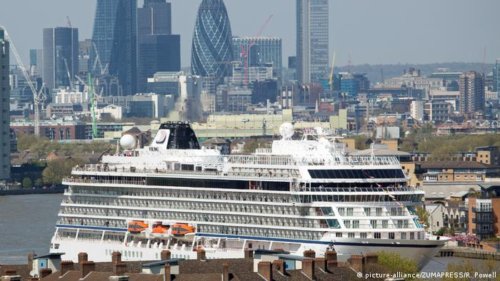 A cruise ship in central London