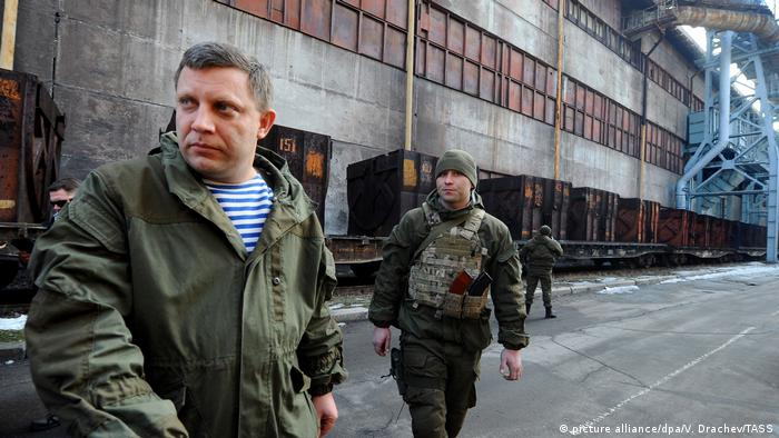 Alexander Zakharchenko in eastern Europe (picture alliance/dpa/V. Drachev/TASS)