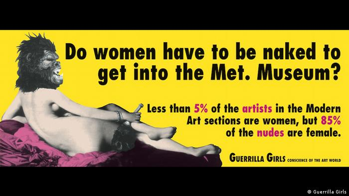 Ausstelung Guerrilla Girls: Is it even worse in Europe? 1 October 2016 – 5 March 2017 (Guerrilla Girls)