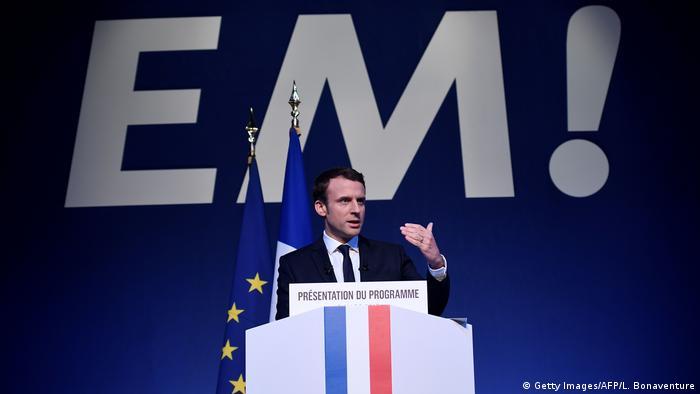 Frankreich Präsidentschaftskandidat Emmanuel Macron stellt sein Programm vor (Getty Images/AFP/L. Bonaventure)