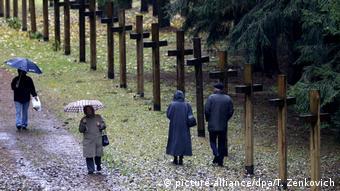 Кресты в память о расстрелянных в 30-40-е годы прошлого века в урочище Куропаты