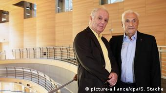 Daniel Barenboim with Frank Gehry at the opening of the Pierre Boulez Hall in April 2017