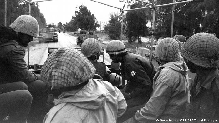 Photograph by David Rubinger: Israeli troops in October 1973 (Getty Images/AFP/GPO/David Rubinger)