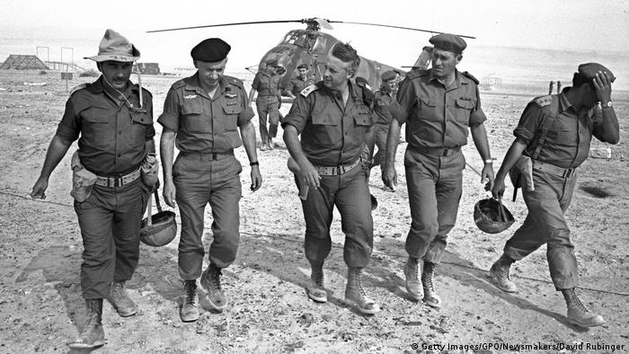 Photo by David Rubinger: Ariel Sharon in 1967 with generals and aides (Getty Images/GPO/Newsmakers/David Rubinger)