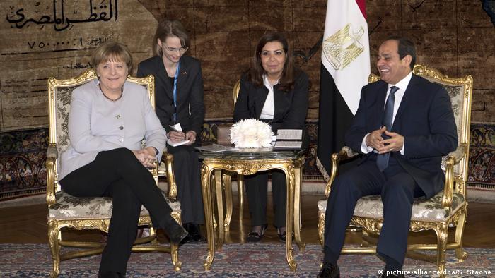 Ägypten   BK Merkel auf Staatsbesuch in Ägypten