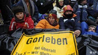 Atomgegner protestieren gegen Castor Transport nach Gorleben, 10.11.08