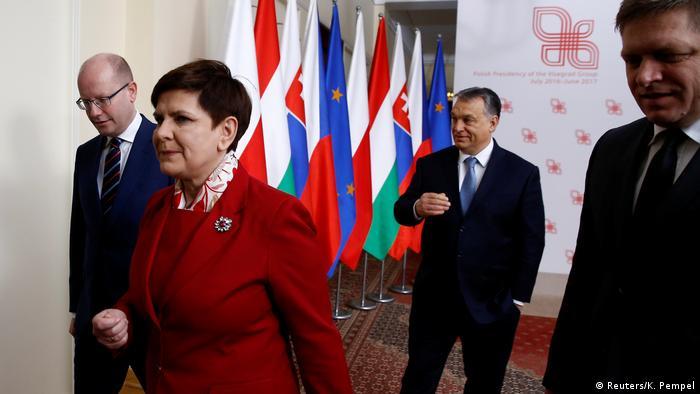 Polen | Ministerpräsidenten der Visegrad-Staaten in Warschau (Reuters/K. Pempel)
