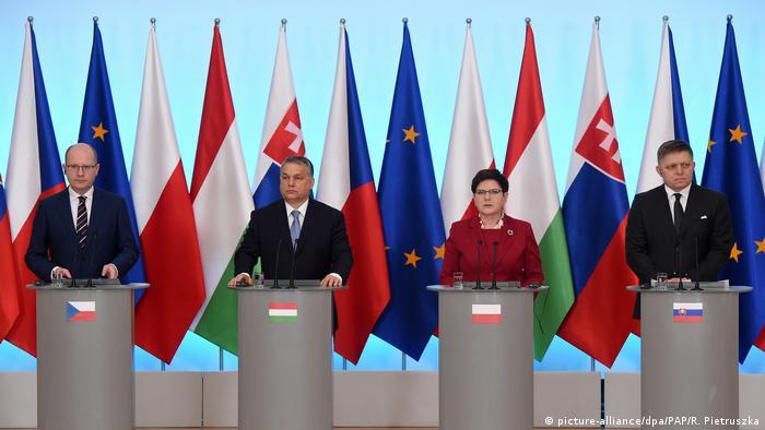 Polen | Ministerpräsidenten der Visegrad-Staaten in Warschau