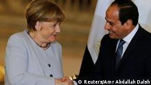 2.3.2017***Egypt's President Abdel Fattah al-Sisi and German Chancellor Angela Merkel shake hands following a news conference at the El-Thadiya presidential palace in Cairo, Egypt, March 2, 2017. REUTERS/Amr Abdallah Dalsh