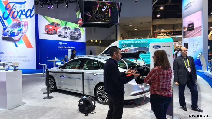 Ford Messestand auf der CES 2017 in Las Vegas (DW/B.Bathke)