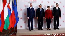 Visegrad Treffen Warschau Polen V4