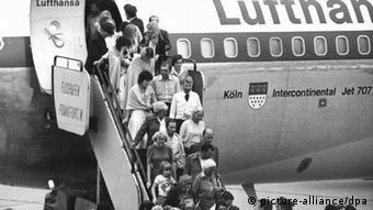 Lufthansa Landshut 1977 - 2017   Rückkehr der Landshut-Geiseln nach Frankfurt