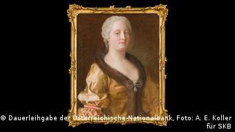 Painting of Maria Theresa by Jean-Étienne-Liotard (Dauerleihgabe der Österreichische-Nationalbank, photo: A. E. Koller für SKB)