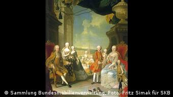 Maria Theresa and Francis I in a family portrait from 1754 (Sammlung Bundesmobilienverwaltung, Photo: Fritz Simak für SKB)