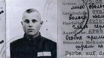 A work permit for a guard, suspected of being John Demjanjuk, at the Sobibor death camp