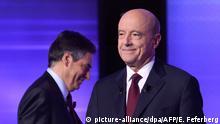 Frankreich Allain Juppe und Francois Fillon