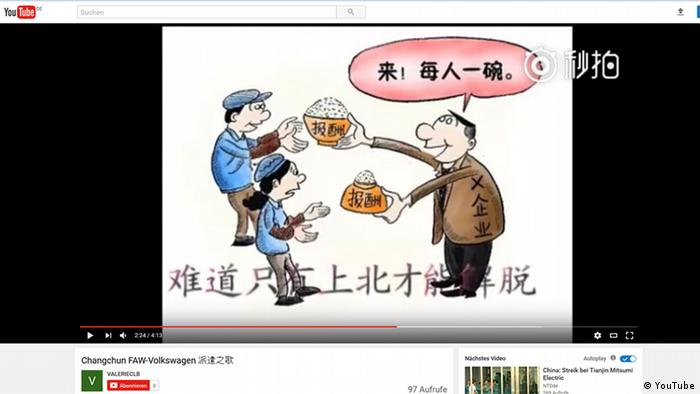Screenshot YouTube Proteste VW China (YouTube)