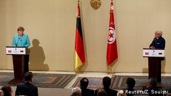 Tunesien Besuch Merkel PK mit Beji Caid Essebsi