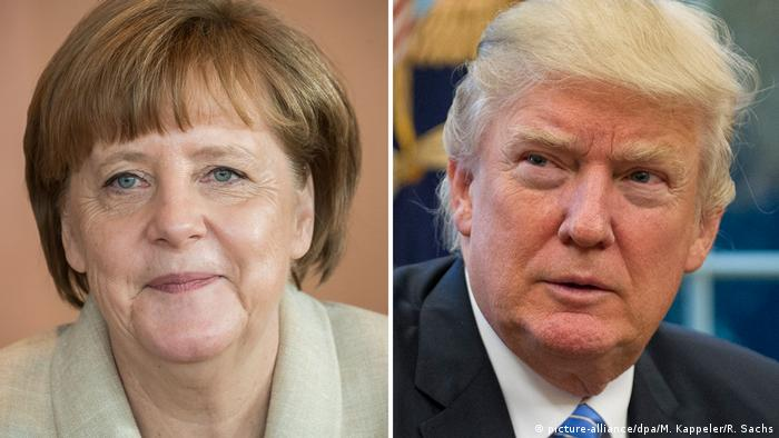 Angela Merkel and Donald Trump (Photo: picture-alliance/dpa/M. Kappeler/R. Sachs)