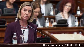 Федерика Могерини в сербском парламенте