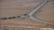 02.03.2017 *** Forces loyal to Syria's President Bashar al-Assad ride in military vehicles on the edge of Palmyra in this handout picture provided by SANA on March 2, 2017, Syria. SANA/Handout via REUTERS ATTENTION EDITORS - THIS PICTURE WAS PROVIDED BY A THIRD PARTY. REUTERS IS UNABLE TO INDEPENDENTLY VERIFY THE AUTHENTICITY, CONTENT, LOCATION OR DATE OF THIS IMAGE. FOR EDITORIAL USE ONLY. TPX IMAGES OF THE DAY