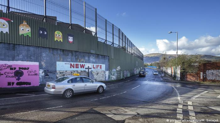 Muro da paz em Belfast, na Irlanda do Norte