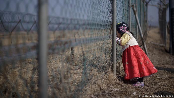 Участок демилитаризованной зоны на границе КНДР и Южной Кореи