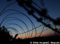 Der Grenzzaun zwischen Nord- und Südkorea