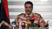 Libyen Ahmed Al Masmary Sprecher National Army LNA