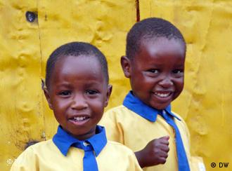 Young students in Uganda