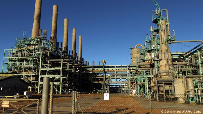 The R'as Lanuf oil refinery is part of a larger petrochemical complex