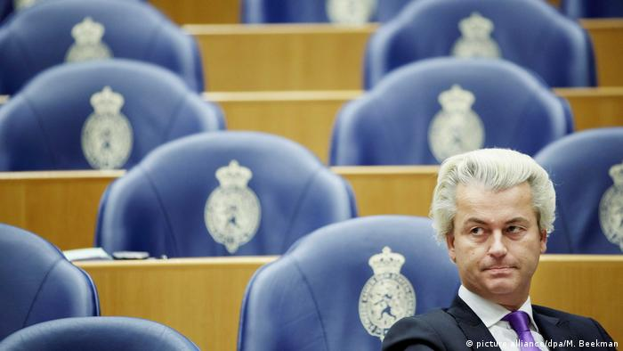 Niederlande Wahlkampf Geert Wilders ARCHIV (picture alliance/dpa/M. Beekman)