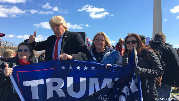 USA March 4 Trump in Washington (DW/M. Shwayder)
