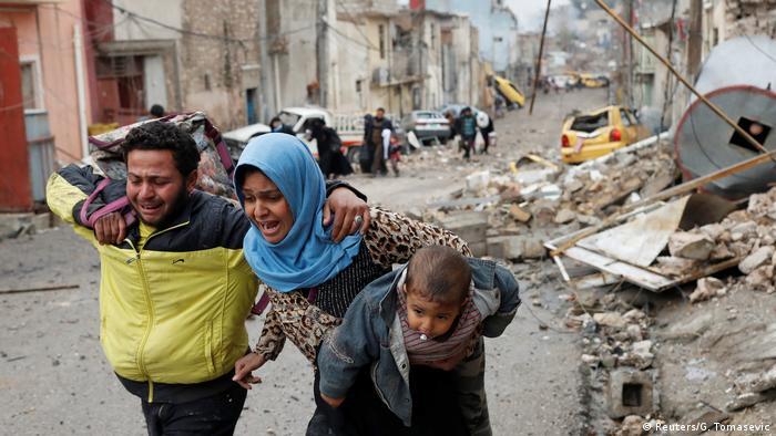 Irak Flüchtlinge aus Mossul (Reuters/G. Tomasevic)