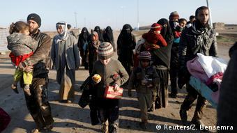 Irak Flüchtlinge aus Mossul