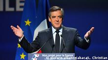 Frankreich Wahlkampf Francois Fillon in Aubervilliers